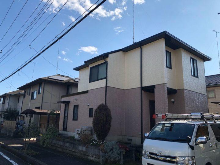 栃木県宇都宮市  S様邸 屋根外壁塗装・シーリング工事