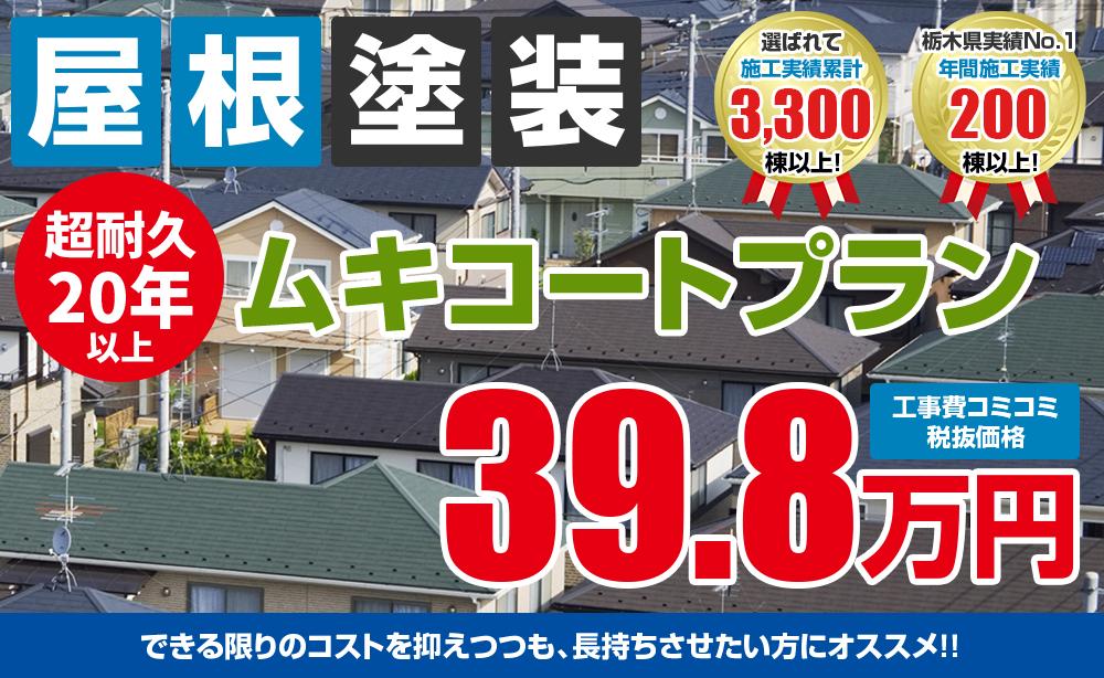 ムキコート塗装塗装 39.8万円