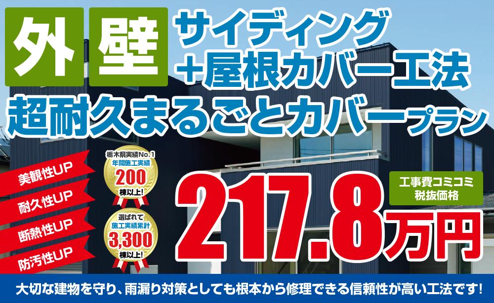 超耐久まるごとカバープラン塗装 217.8万円