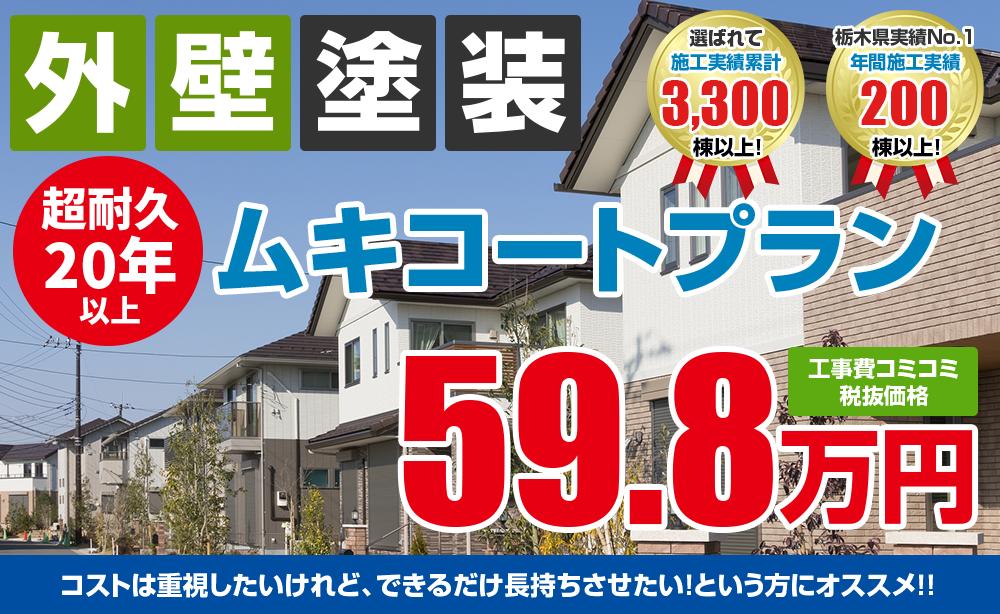 ムキコート塗装塗装 59.8万円