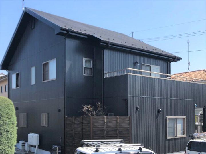 栃木県河内郡 M様邸 屋根カバールーフ工事・外壁塗装工事