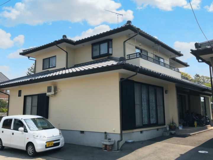 栃木県真岡市 N様邸 屋根瓦漆喰工事・外壁塗装工事