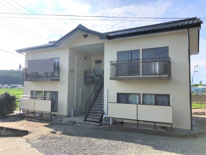 栃木県那須烏山市 Kアパート外壁塗装工事