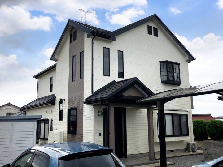 栃木県小山市 K様邸 屋根カバー・外壁塗装工事